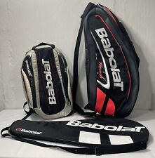 Lot Of 2 BABOLAT Team Tennis Racquet Backpacks & Racquet Cover