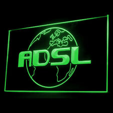 130032 ADSL Internet Shop Connection Cafe Policy Cable Display LED Light Sign