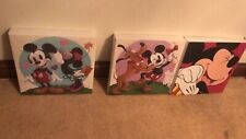 Set of 3 Disney Mickey Mouse Picture Canvas 30x30cm