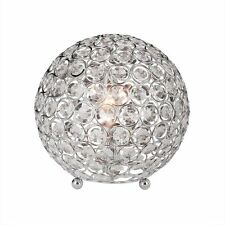 Crystal Ball Lamp Crystal Metal Accent Desk Night Stand  Bedroom Side Table G