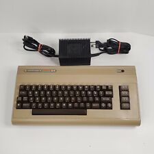 Vintage Commodore 64 Keyboard Computer System with Power Supply and Dust Cover