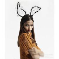 Kostüm Party Sexy Schwarz Lange Hasenohren Stirnband Mit Spitze Augenmaske   JMD