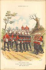 1895 Richard Simkin militar de impresión, 86 la reina del propio (Regimiento Royal West Kent