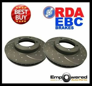 DIMPLED SLOTTED FRONT DISC BRAKE ROTORS for Holden Barina XC 2001-2005 RDA7535D
