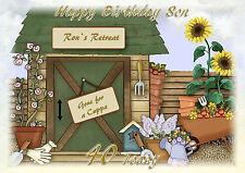 Personalised birthday card Gardening Dad mum Son Friend Grandson Brother