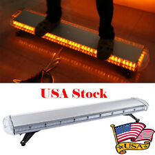 "47""Amber 88LED Emergency Warning Beacon Tow Truck Strobe Light Bar Roof Top Cool"
