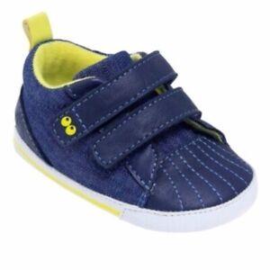 Baby Boys' Surprize by Stride Rite Sneaker Denim Shoes Blue 12-18M