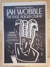 Jah Wobble the edge U2 holger Czukay 1983 press advert Full page 39x 28cm poster