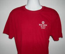 New Mens Bacardi Black Razz Raspberry Rum Bat & Tribal logo t Shirt XL red