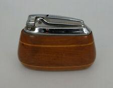 Ronson England Varaflame Tischfeuerzeug Wooden / Holz um/ab 1965 (76735)