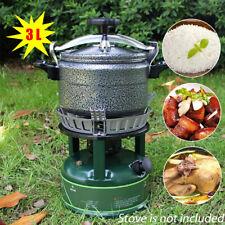 3.3qt Aluminum Pressure Cooker Pot Rice Cooking Stovetop Outdoor Camping Travel