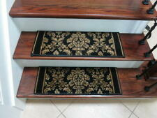 "15 Traditional Non Slip Preimum Quality Carpet Stair Treads 26""x9"" + Door Mat"