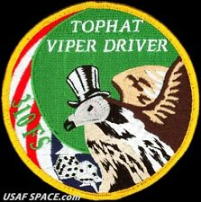 USAF 310th FIGHTER SQUADRON -TOPHAT VIPER DRIVER- Luke AFB, AZ- ORIGINAL PATCH