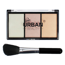 Love Urban Beauty Cheeky Looks Highlighter Make Up Powder Palette with Brush