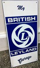 British Leyland Sign .gas oil gasoline garage