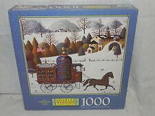 """Charles Wysocki""""s Americana Winter Bouquet 1000 pc Jigsaw Puzzle New In Box"""