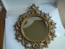 Vintage   bevelled     Ornate  metal    frame mirror.