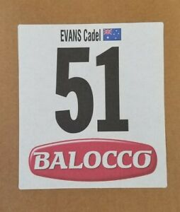 2014 Giro d'Italia Race Numbers BMC Racing Team - Cadel EVANS