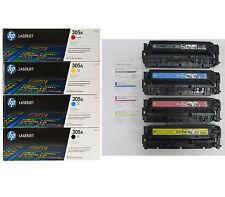 4PK Genuine HP 305A CE410A CE411A CE412A CE413A Introductory Toner Cartridge 90%