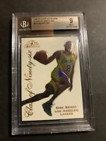 "1996 Flair Showcase ""Class Of '96"" Kobe Bryant ROOKIE RC #4 BGS 9 MINT. (J23)."
