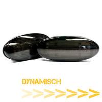 LED Clignotants Latéraux, Clignotants Dynamique Fumee Noir pour Smart 2er Kit
