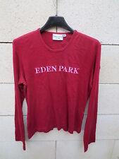 T-shirt EDEN PARK for Her femme bordeaux 2 logo brodé manches longues