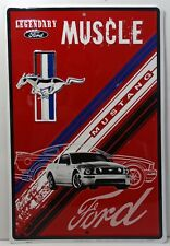 Ford Legendary Mustang Muscle Metal Sign