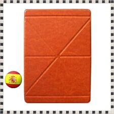 Funda con tapa para iPad Air Carcasa de cuero piel tablet Marrón claro protector