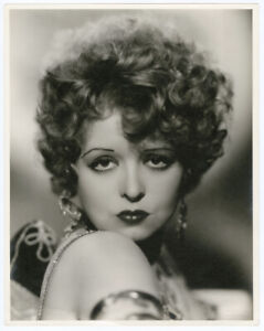 CLARA BOW HOOPLA 1933 OVERSIZE VINTAGE DBLWT PHOTOGRAPH HER PERSONAL COLLECTION