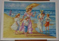 "Karin Schaefers ""First Days of Summer"" Children on Beach Lim Ed Signed Serigraph"
