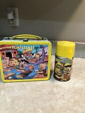The Flinstones Lunch Box w/ Thermos Aladdin 1964. Excellent!