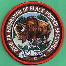 Pa Game Fish Commission Federation Of Black Powder Shooters 2006 Buffalo Patch