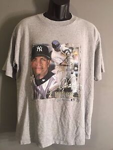 Alex Rodriguez New York Yankees #13 MLB Baseball Large Gray Short Sleeve T-shirt
