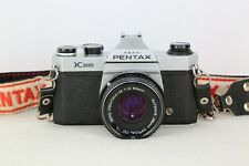 Pentax K1000 35mm SLR Film Camera with 50mm lens Kit Tested Loads of Accessories