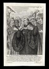 santino incisione 1600 S.AGOSTINO DI CANTERBURY franck