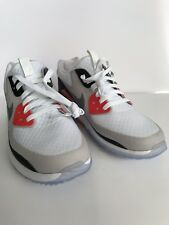 3b7b03a55583ca NIKE AIR ZOOM 90 IT GOLF SHOES WHITE GREY INFRARED 844569101 Size 7 RORY  MCILROY