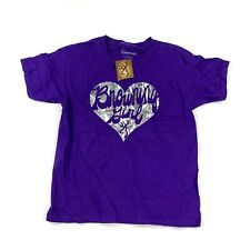 Browning Womens Small T-Shirt Browning Girl Purple Hunting New