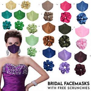 Silk Face Mask Covering Luxury Satin Soft Washable Reusable Double Layer UK