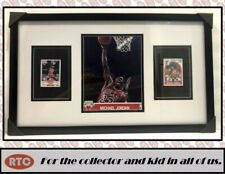 New listing Michael Jordan - 3-card Custom Framing w/ Rare 8x10 NBA Hoops Photo/card (Bulls)