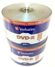 Verbatim 97493 DVD-R 4.7gb 16X Logo - Branded 100pcs Disc Plastic Rap New Seal