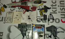 STAR WARS VINTAGE JOB LOT LOTE CAJA BOX TRIPOD LASER CANNON MINI RIGS INT-4 FOLL