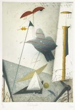 """Josef Werner Radierung / etching """"Astrologisches"""""""
