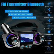 Durable In-car Bluetooth FM Transmitter Dual USB Charger Audio Speaker 2.1A