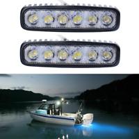 2pcs Marine Spreader Lights LED Light Deck/Mast lights for boat 18W 12V-30V