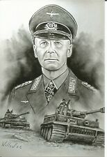 WW II  German   Photo Art  ----  Erwin Rommel - Africa Korps