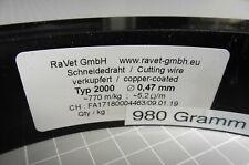 750 lfm RaVet Typ 2000 Ø 0,47 mm Schneiddraht Widerstandsdraht Cutting wire