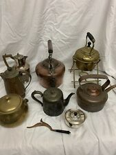 More details for mixed brass copper kettles jugs