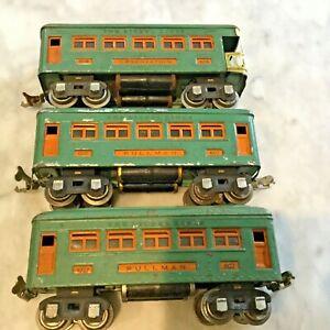 LIONEL O GAUGE 607(2),608 PASSENGER CARS