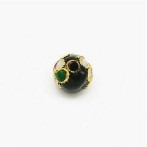 10pcs Cloisonne Enamel Round Spacer Loose Bead Jewelry Finding 6mm / 8mm