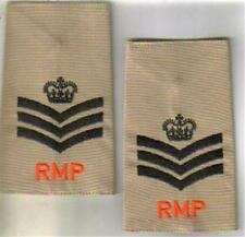 ROYAL MILITARY POLICE STAFF SGT DPM CAMO rank epaulette